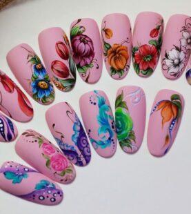 Роспись ногтей для начинающих