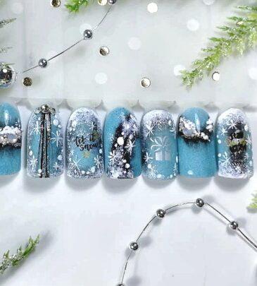 Зимние дизайны ногтей